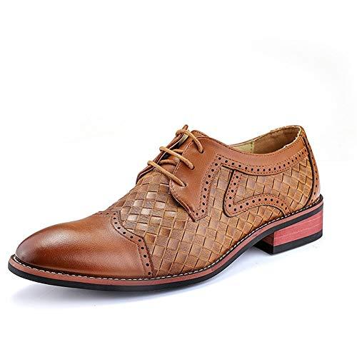 Best-choise Negocio Oxford para Hombres Zapatos Formales con Cordones Gorro de Cuero...