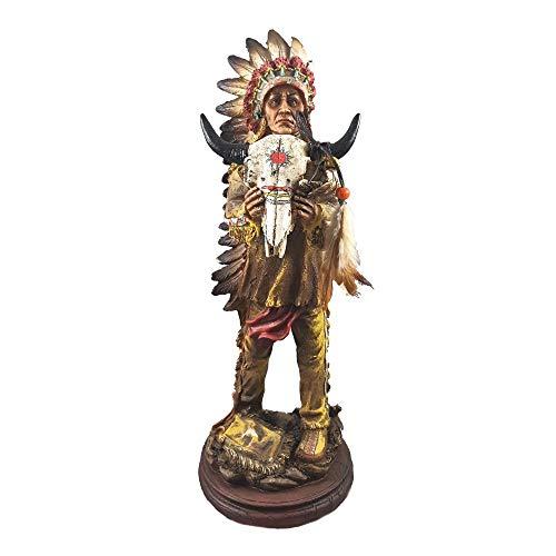 A.G.S. Indianer Häuptling Figur Western Wilder Westen Wildwest Deko Indian Warrior