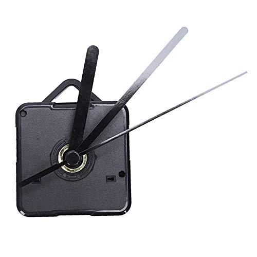 Kamenda 1 Paquete Piezas de Reparación DIY de Manos de Reloj de Pared de Repuesto Mecanismo de Movimiento del Péndulo Motor de Reloj de Cuarzo con Manos Y Kit de Accesorios (Negro)
