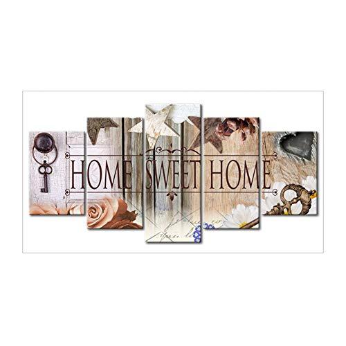 Broadroot Home Sweet Home 5D DIY Voller Diamanten Malerei Stickerei Handwerk Hand Kreuzstich Kit Wohnkultur (B)