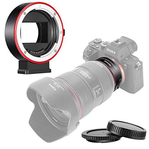 Neewer Bague d'Adaptation Autofocus Objectifs Electronique AF, Compatible avec Canon EF/EF-S Objectif vers Sony Caméra Type E A9/A7R3/A7R2/A7M3/A7M2/A6500/A6300/A7R/A7S2/A7S/A7/NEX7/A6000/A5100