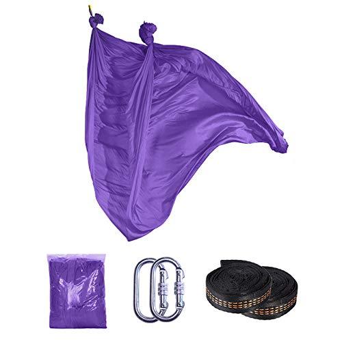 BAFEYU Aerial Yoga Hammock Silk Yoga Swing 5m x 2.8mYoga Set Safe Deluxe Aerial Kit for Improved Flexibility & Core Strength