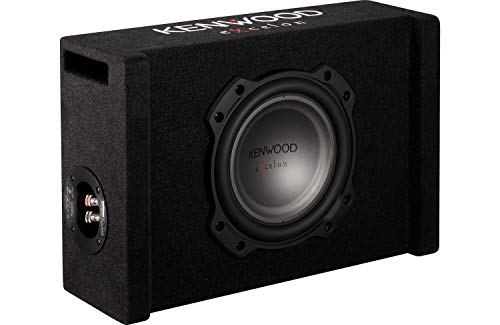 Kenwood Excelon P-XW804B 8  Oversized Down-Firing Shallow-mount Subwoofer in Ported Enclosure
