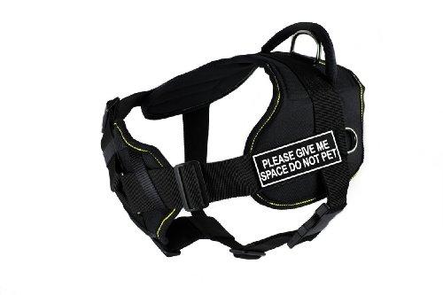 """Dean & Tyler Hundegeschirr, mit gepolstertem Bruststück, Aufschrift """"Please Give Me Space Do Not Pet"""", Größe XL, für einen Umfang von 86,4 cm bis 119,4 cm"""