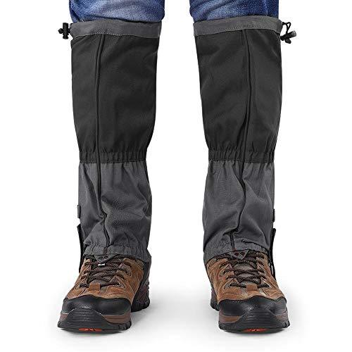 Alomejor 1 Paar Schneestiefel Leggings wasserdichte Gamaschen Winter Outdoor Sports Schuhe Abdeckung für Klettern Wandern(Schwatz)