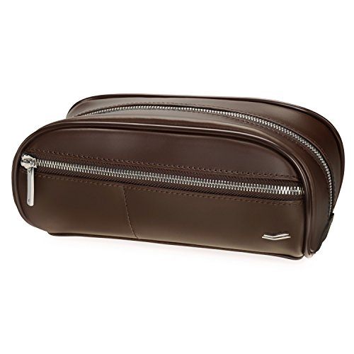 Vocier F12 Leather Dopp Kit (Brown)