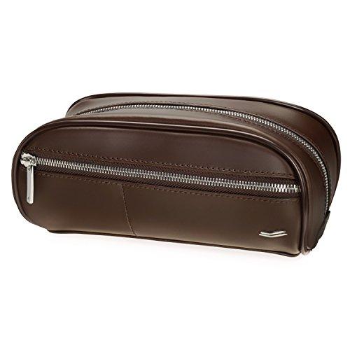 Vocier F12 Leather Dopp Kit (Brown)