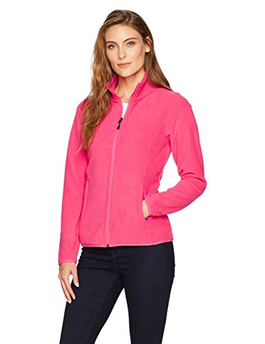Amazon Essentials Women's Classic Fit Long-Sleeve Full-Zip Polar Soft Fleece Jacket, Dark Pink, Large