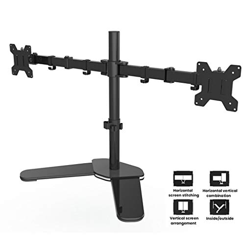 Dual Arm Monitor Stand, in hoogte verstelbare verticale Desktop Stand Monitor Desk Mount - Past 17-27