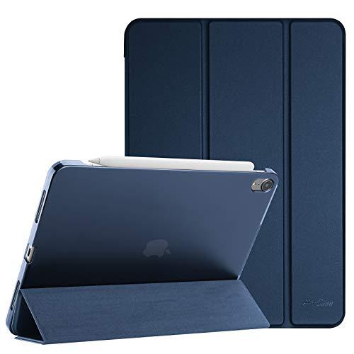ProCase Custodia per iPad Air 4 Generazione/iPad 10.9 2020 Cover, [Supporta Ricarica di Pencil 2]Smart Cover Sottile Leggero Traslucida Smerigliata e Supporta Auto Svegliati/Sonno -Blu Marino