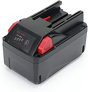 Reexbon 28V 3.0Ah Lithium Ion Battery Pack for Milwaukee 48-11-2830 28 Volt Battery Cordless Power Tools, Replacement for Milwaukee M28 Battery with LED Fuel Gauge