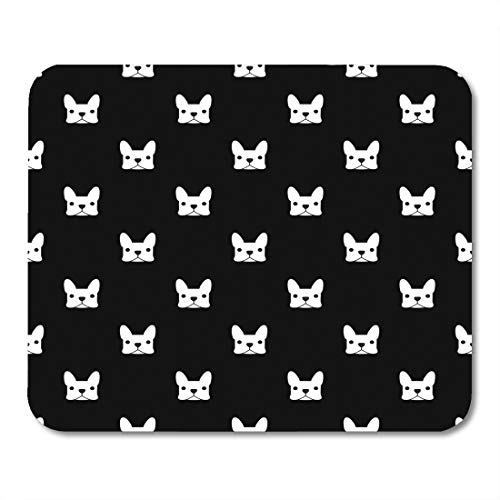 Emvency Mouse Pads Pattern French Bulldog Puppy Frenchie Animal Outline Face Mousepad 9.5' x 7.9' for Laptop,Desktop Computers Accessories Mini Office Supplies Mouse Mats
