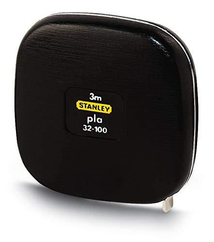 Stanley Bandmaß Pla (schmale Ausführung, lackiertes Band, Kunststoffgehäuse, automatischer Rücklauf) 0-32-100