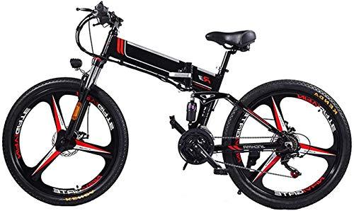 Bicicleta electrica, Bicicleta eléctrica de montaña plegable de la bicicleta E-Bike para adultos 3 modos de equitación Motor 350W, marco de aleación de magnesio ligero y bicicleta plegable e-bicicleta