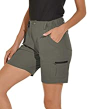 VAYAGER Women's Lightweight Cargo Short for Hiking,Camping and Travel with 6 Pockets Quick Drying Water Resistant(Rosemary M)