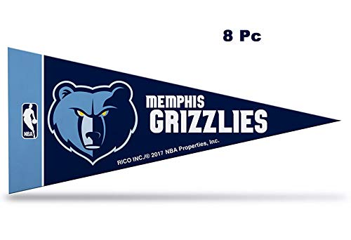 Rico NBA Grizzlies 8 Pc Mini Pennant Pack Sports Fan Home Decor, Multicolor, One Size