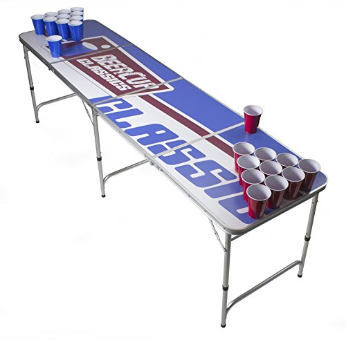 Beer Pong Tisch Set - Logo Table Design - Silver Line Beer Pong table