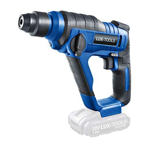 LUX-TOOLS ABH-20Li Akku-Bohrhammer mit SDS Plus Aufnahme & LED-Arbeitsleuchte | 20V Schlagbohrmaschine mit 1,3 Joule Schlagstärke & einer Drehzahl von 850/min (Umdr.) [ohne Akku/ohne Ladegerät]