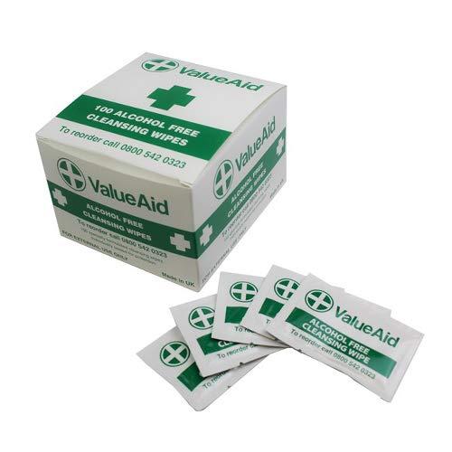 Value Aid - Salviette umidificate senza alcool, confezione da 100