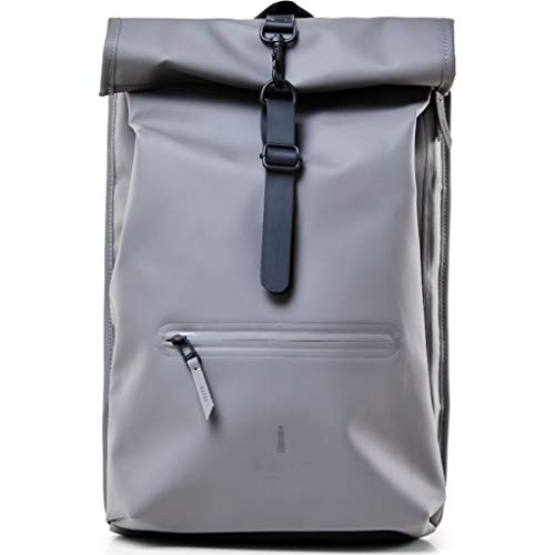 Rains Roll Top Bag Zaino, colore: carbone