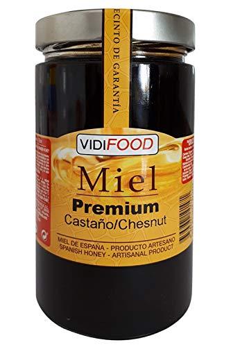 Miel de Castaño Premium - 1kg - Producida en España - Tradicional & 100{d1dd68b6e8631bbf71c838b8bcff61af8c280a30528035b735257686d9427b38} pura - Aroma Amaderado Intenso, Sabor Rico y Dulce