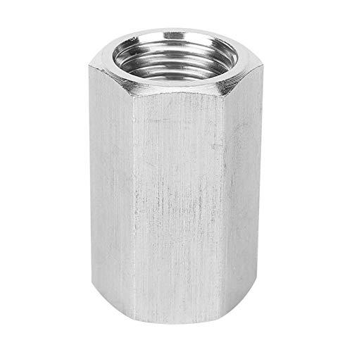 Tuerca hexagonal adaptador de varilla Fitting acero inoxidable rosca exacta para conexión de tubo de agua (1/2')