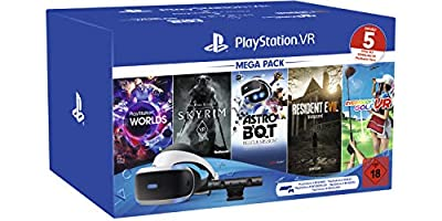 Playstation Vr Mega Pack 2, Vr-brille Inkl Camera + Vr Worlds + Skyrim Vr + Astro Bot + Resident Evil 7 + Everybody's Golf Vr, Cuh-zvr2