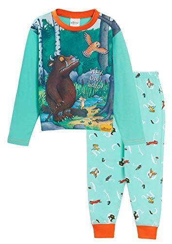 Der Grüffelo Jungen, Mädchen, Unisex, Schlafanzug für Kinder, volle Länge, Charakter-Set Nachtwäsche Gr. 5-6 Jahre, grün
