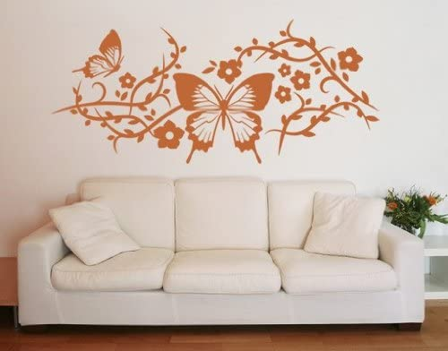 Style Max 75% OFF Apply Butterfly El Paso Mall Mesh Mur Wall Sticker Decal