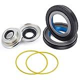 XiKe 2 Set Front Wheel Seals Kit Fits 2005-2014 F250 F350 Compatible Dana Super 60 Axle, Part Code 2017426/710685/2014835/710701/54983.
