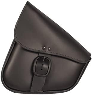 Dowco Willie & Max 59893-00 Triangulated Leather Motorcycle Swingarm Bag: Matte Black Buckle, Black, 9 Liter Capacity