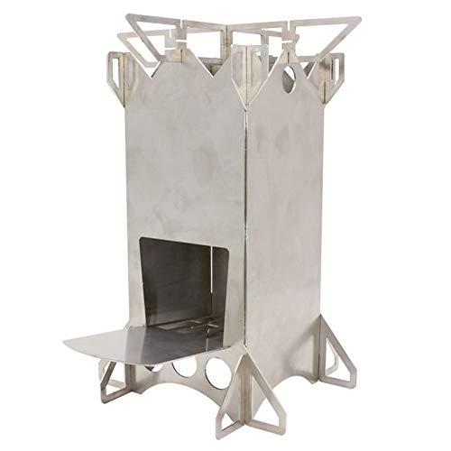 Estufa de camping de acero inoxidable ligero para mochilas,