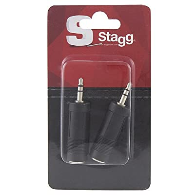 Stagg 16095 Female to Male Stereo Mini Jack Audio Adaptor (Pack of 2)