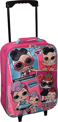 L.O.L Surprise! Girl's 15' Collapsible Wheeled Pilot Case - Rolling Luggage