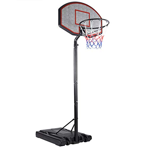 Deuba Mobiler Basketballkorb mit Rollen verstellbare Korbhöhe 205 - max. 305cm Wettkampfhöhe Basketball WM Ständer Hoop Stand komplett