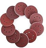 Sanding Discs, VERONES 180 PACK 5 inch 8 Holes Hook and Loop Adhesive Sanding Discs Sandpaper 10 grades...