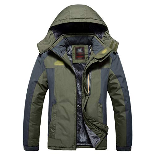 HJHHJHAB Heren bergjack waterdicht wandelende camping softshell jas fleece winddicht 3-in-1 winterjas ski-jack outdoor mantel lichte regenjas