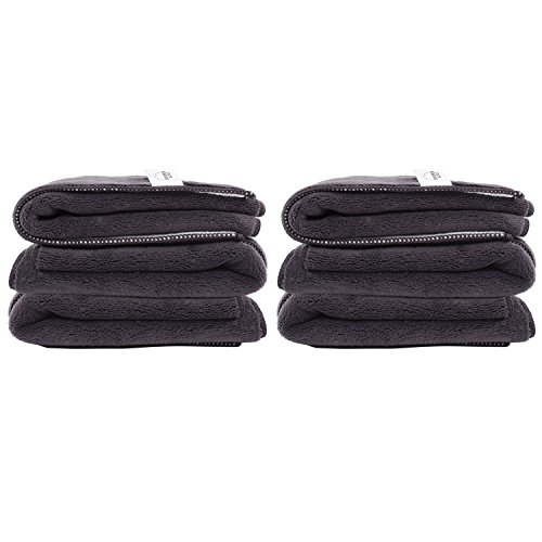 Zwipes Auto 883-3 Professional Microfiber Dust Cloth and Polishing Cloth Towel, 6-Pack