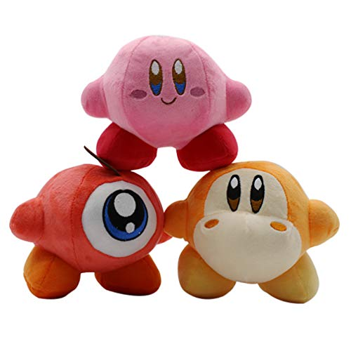 3 stuks 14cm Kirby van Star Plush Doll Nintendo Game Vadodi Knuffel Domoded Doll Gift