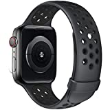 Fengyiyuda Correa de Compatible con Apple Watch 38mm 40mm 42mm 44mm, Correa de Silicona Suave de Repuesto Compatible IWatch Series6/SE/5/4/3/2/1