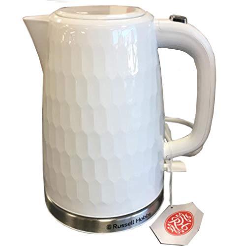 Russell Hobbs Hervidor de agua 'Honeycomb', 1,7 litros, color blanco