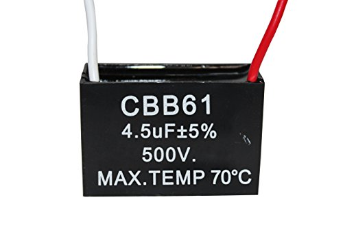 CBB61 Complete 1.8-20uF AC 450V 2-wire Terminal Fan Motor Run Capacitor NEW