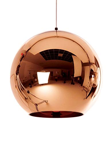 Luces Colgantes de Bola de Cristal LED - Luces Colgantes de Globo Lá mpara Colgante de Espejo Lámpara Colgante de Luz de Bola de Cristal E27 15CM