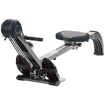 skandika Regatta Multi Gym Poseidon - máquina Remo - Plegable - Sistema de Freno silencioso - Peso 17 kg (Gris)