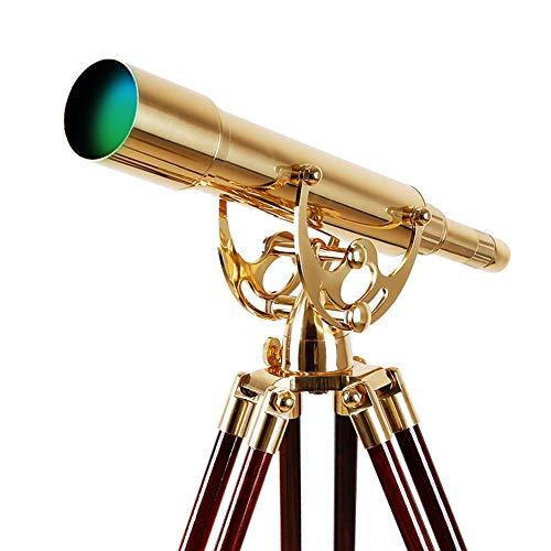 JIOC Telescopio de latón monocular clásico Retro Art Deco Ver Moon View 20-60x60