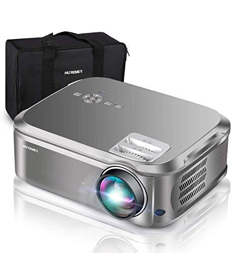 HUREMER Beamer, 6500 Lumen Full HD Native 1080P Beamer, 3D Video Projektor Heimkino Mit 200
