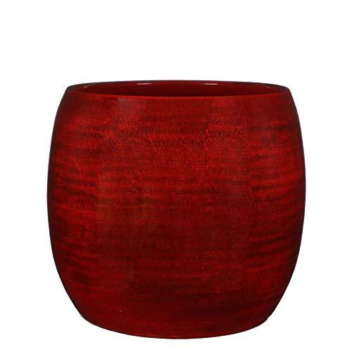 Mica Decorations Bloempot binnen Lester rond rood - 31 x Ø 33 cm