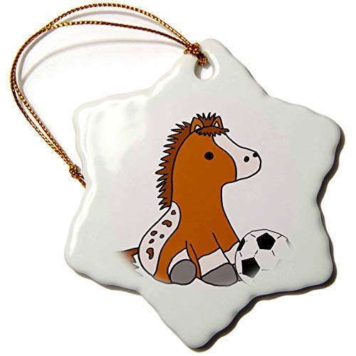 Dant454ty Baby Appaloosa Pony Horse Playing Soccer Christmas Ornaments for the Home 2019 for Women Friends Kids Christmas Tree Ornament