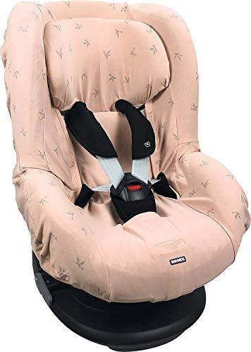 Dooky 126842 Origami Rose Sitzbezug für Kindersitz universale Passform für viele gängige Modelle Altersgruppe 1+ 9-18kg für 3 und 5 Punkt Gurtsystem, Origami swallow Rose, rosa, 140 g