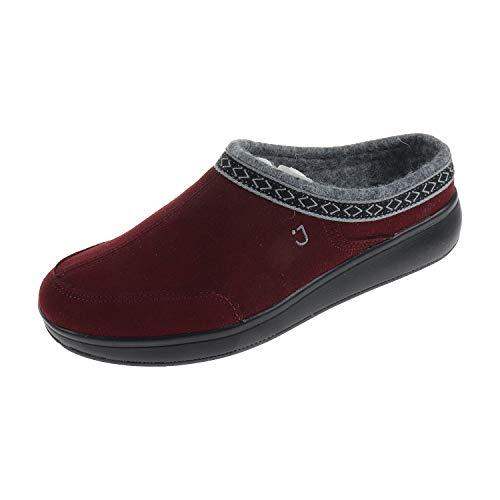JOYA Damen Schuhe Pantolette Hausschuhe Zermatt Wine 573sli3700u1406 (37 EU)